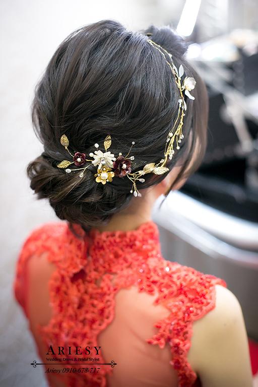 旗袍新娘髮型,短髮新娘,黑髮新娘,,歐美新秘,台中新秘推薦,台北新娘秘書