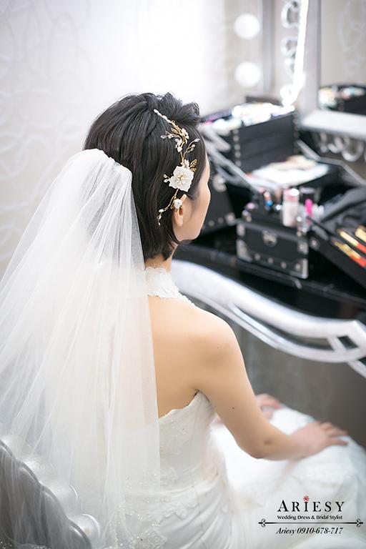 黑髮新娘,短髮新娘,時尚白紗造型,歐美新秘,台中新秘,台北新娘秘書推薦