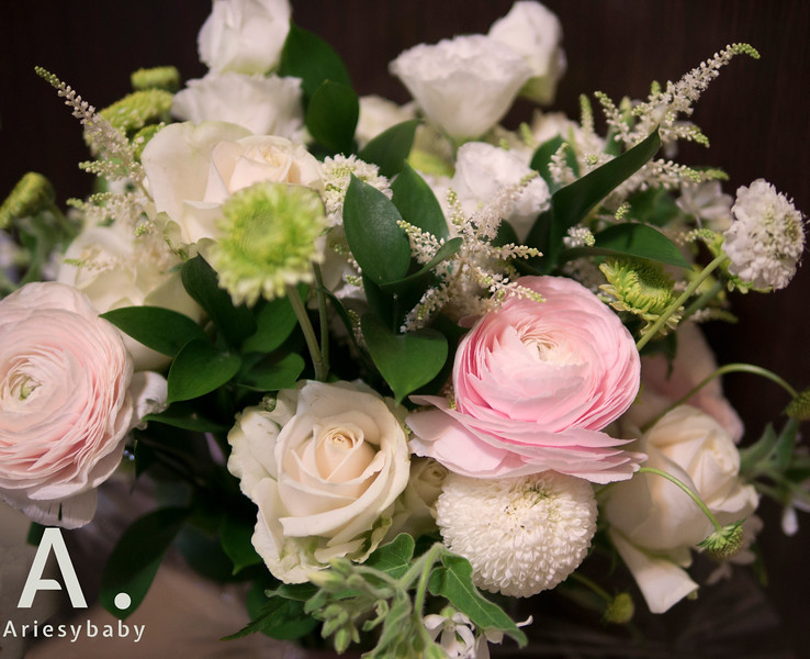 Ariesy愛瑞思手工婚紗,Ariesybaby造型團隊,新娘捧花,手作鮮花捧花,婚宴捧花