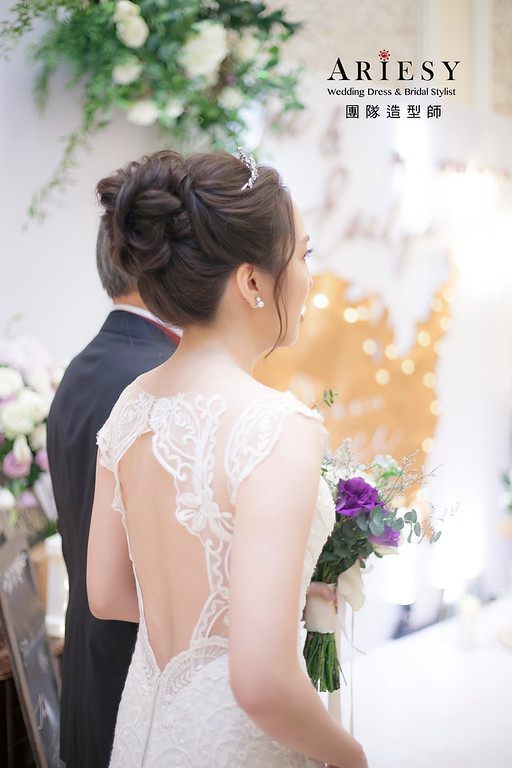 白紗造型,編髮造型,進場新娘髮型,新祕,新娘造型,迎娶造型,新娘祕書,歐美風