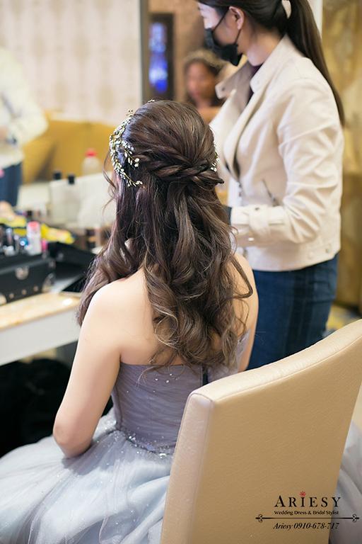 台中新秘,新娘捲髮造型,新娘秘書,送客新娘髮型,ARIESY,愛瑞思