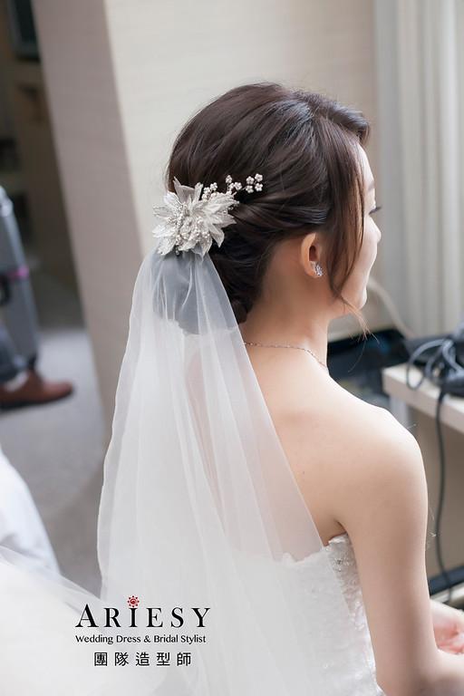 白紗造型,新娘造型,台北新祕,新娘秘書,新娘髮型,自然清透妝感,迎娶造型