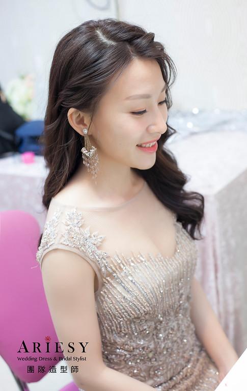 新娘髮型,送客造型,台北新祕,新娘秘書,新娘造型,敬酒造型,新祕推薦,自然清透妝感