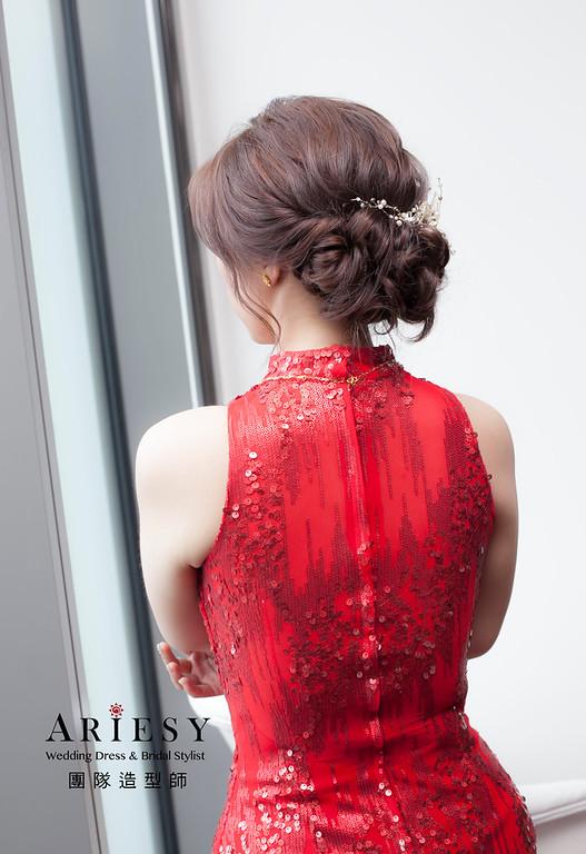 文定造型,編髮造型,台北新祕,新娘秘書,新娘造型,自然妝感,細軟髮造型