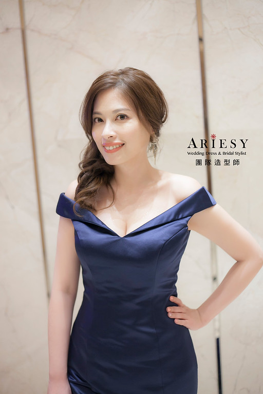 新娘髮型,台北新祕,新娘秘書,新娘造型,送客造型,短髮新娘,名媛造型