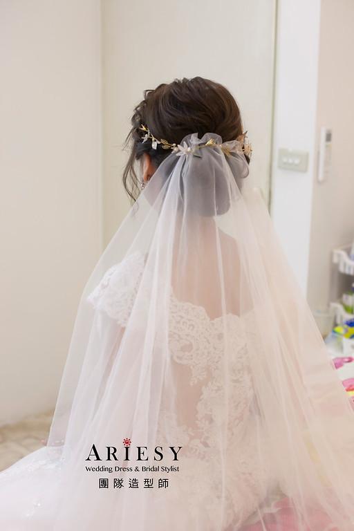 白紗造型,編髮造型,台北新祕,新娘秘書,新娘造型,自然妝感,細軟髮髮型