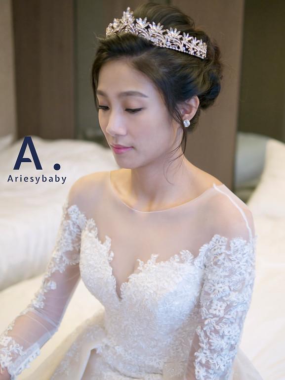 簡約白紗造型,Ariesybaby團隊,新娘造型,編髮造型,台北新娘祕書