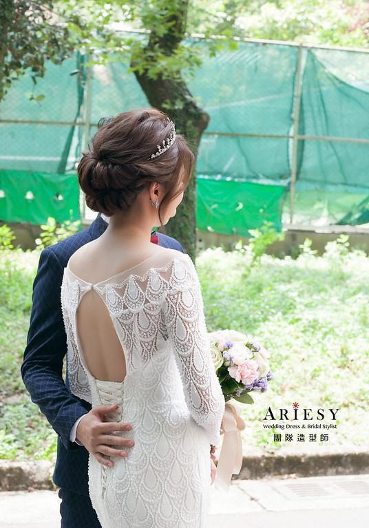 白紗造型,編髮新娘髮型,進場造型,徐州路二號婚宴,新娘造型