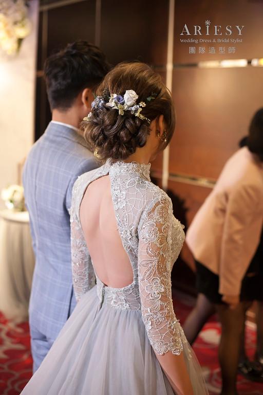 敬酒造型,蓬鬆編髮造型,台北新娘祕書,新娘造型,花藝新祕,花藝造型