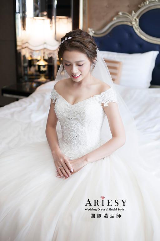 白紗造型,編髮造型,進場新娘髮型,新娘造型,迎娶造型,台北新祕