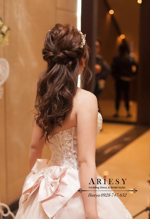 新娘造型,白紗造型,蓬鬆編髮,新秘推薦,台北新秘