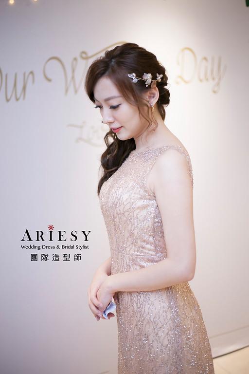 敬酒造型,蓬鬆編髮造型,新娘髮型,放髮新娘造型,台北新娘祕書