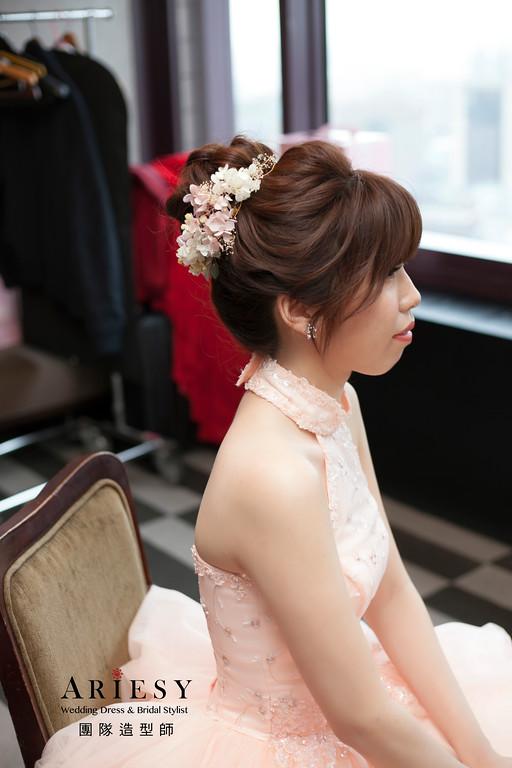 新娘秘書,送客造型,蓬鬆編髮,新娘包頭造型,新娘髮型
