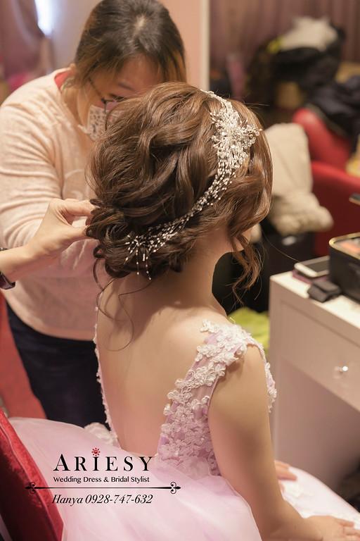 甜美新娘造型,新娘髮型,新娘秘書,新秘推薦,蓬鬆編髮
