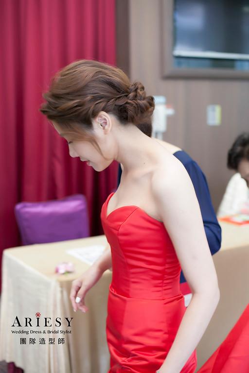 文定造型,編髮盤髮造型,新娘祕書,新娘造型,徐州路二號婚宴,儀式造型