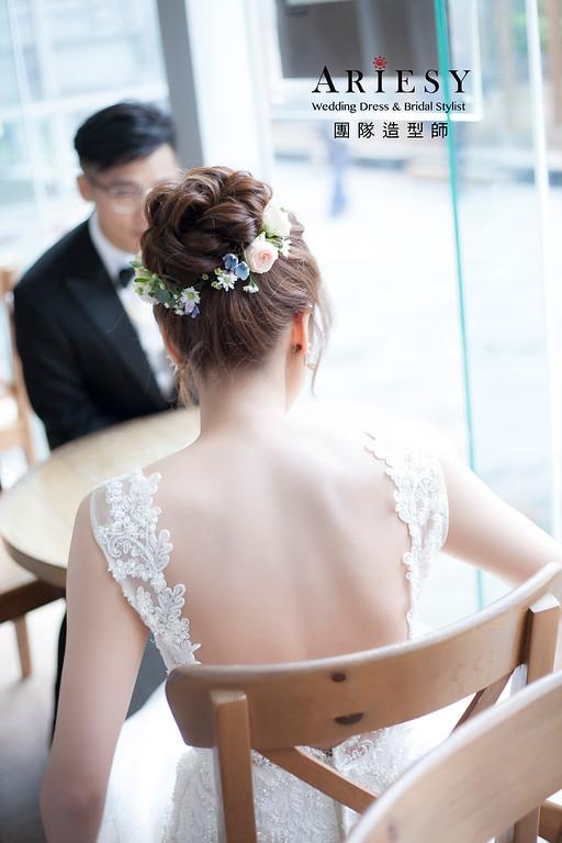 白紗造型,編髮盤髮造型,進場新娘髮型,,新娘造型,迎娶造型,鮮花花藝飾品,鮮花新祕