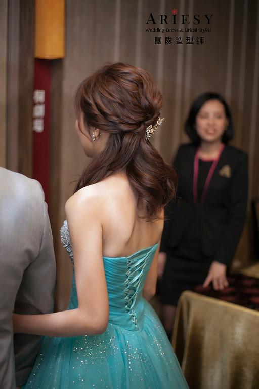 敬酒造型,蓬鬆編髮造型,台北新娘祕書,新娘造型,府中晶宴婚宴,短髮造型