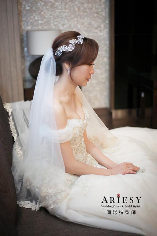 白紗造型,編髮造型,進場新娘髮型,府中晶宴婚宴,新娘造型,短髮造型