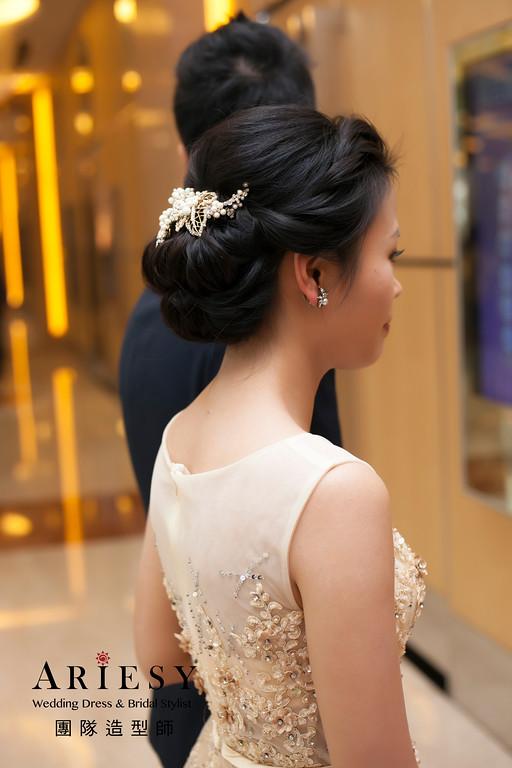 新祕推薦,敬酒造型,新娘造型,蓬鬆編髮造型,盤髮造型