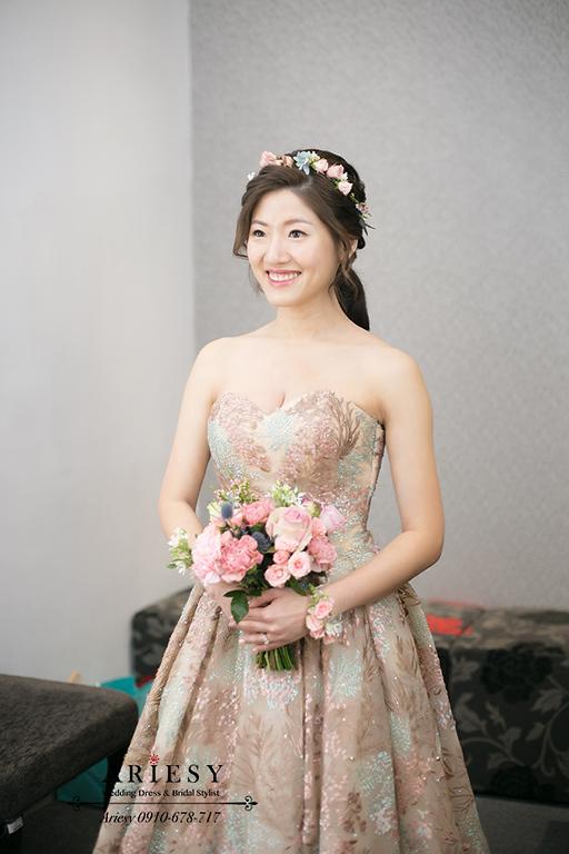 台北新娘秘書,鮮花新秘,歐美風新娘秘書,愛瑞思捧花,ARIESY,新莊晶宴戶外婚禮