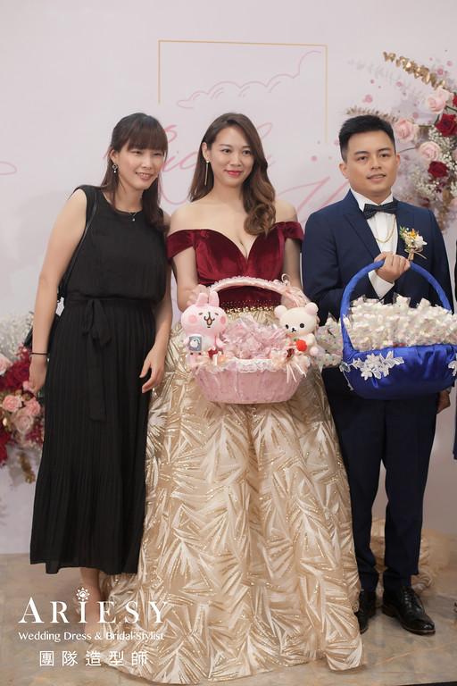 送客造型,新娘時尚造型,新娘秘書,放髮造型,台北新秘