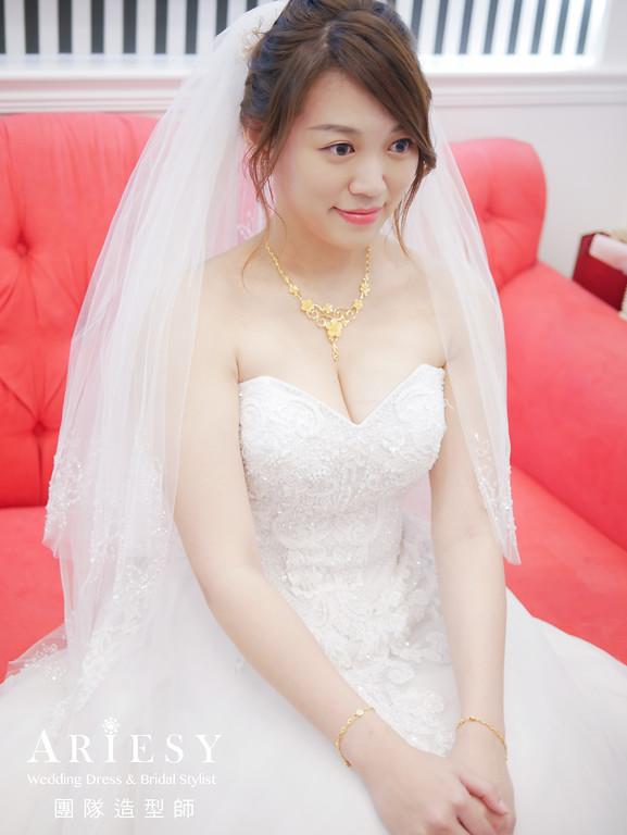 迎娶造型,新娘清透妝感,新娘編髮,新娘髮型,新秘