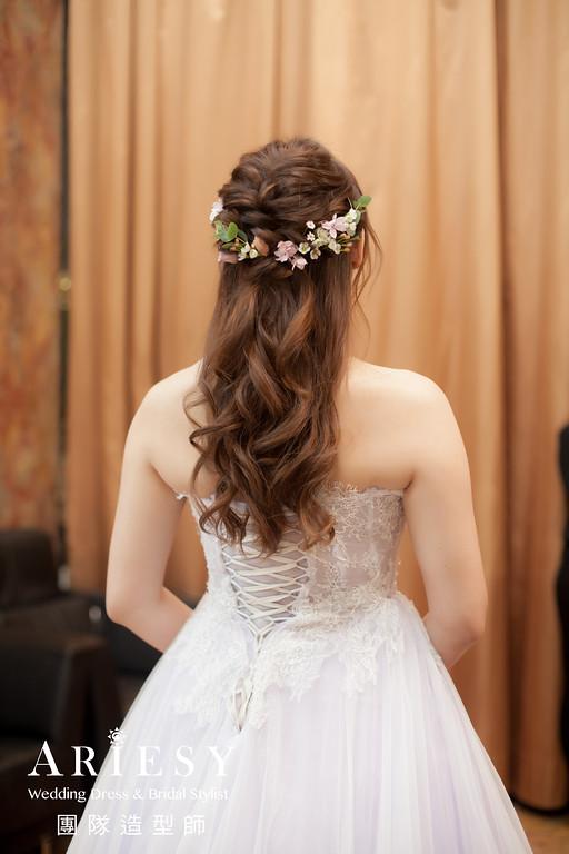 敬酒造型,公主頭造型,新秘花藝,新娘鮮花造型,新秘推薦