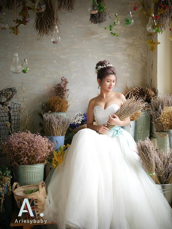 紫色新娘髮型,漂色新娘髮型,編髮新娘造型,鮮花新娘髮型,台北新秘