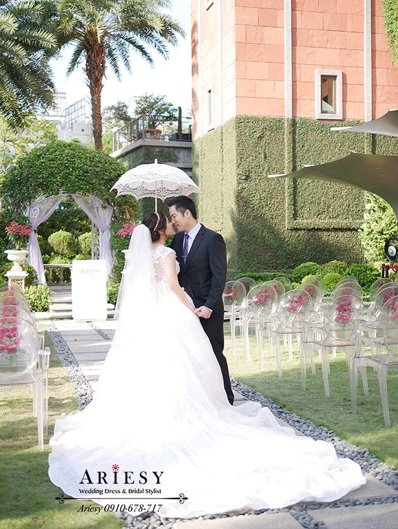 迎娶髮型,白紗髮型,新娘秘書,台北新秘,白紗造型,維多麗亞婚宴