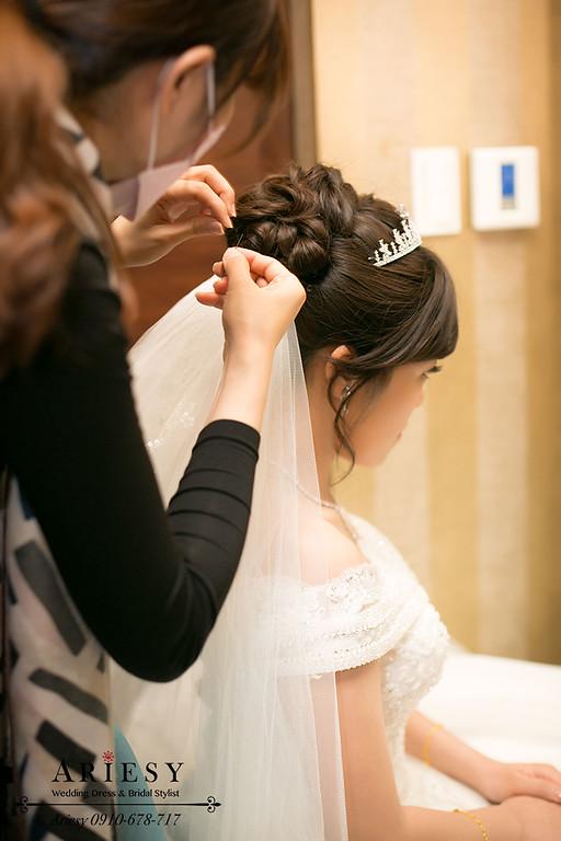 台北新秘,新娘秘書,新娘髮型,鮮花編髮
