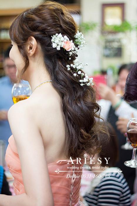 新娘秘書,新娘髮型,歐美風造型,鮮花新秘,台北新秘