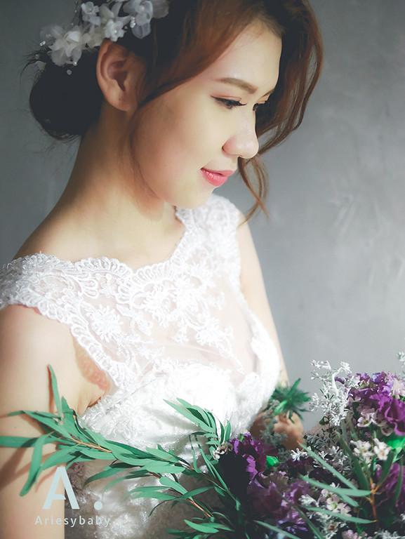 台北新娘造型,新秘作品,新娘秘書,歐美盤髮,編髮造型