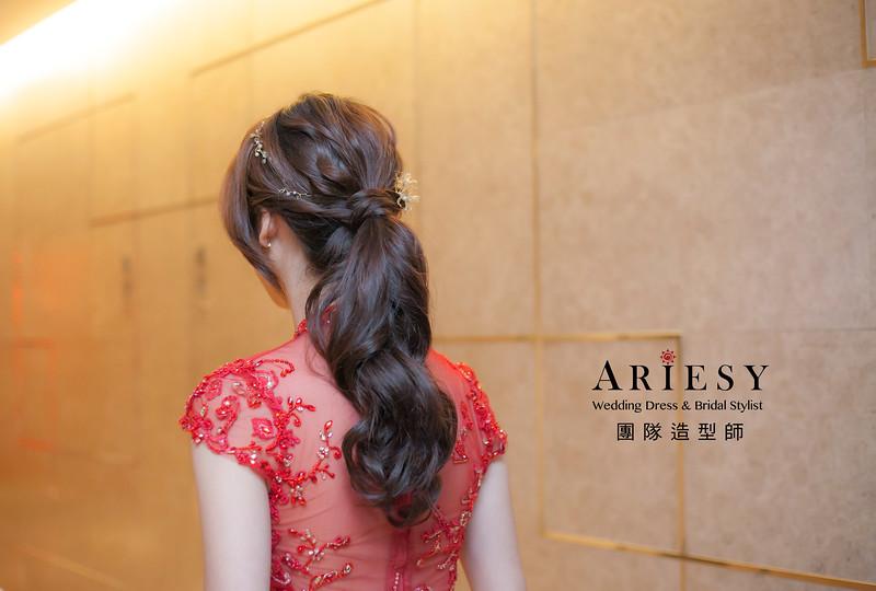 新娘髮型,編髮馬尾造型,台北新祕,新娘秘書,新娘造型,自然清透妝感,新祕