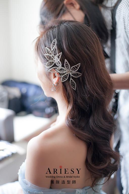 新祕,放髮造型,台北新祕,新娘秘書,新娘造型,自然清透妝感