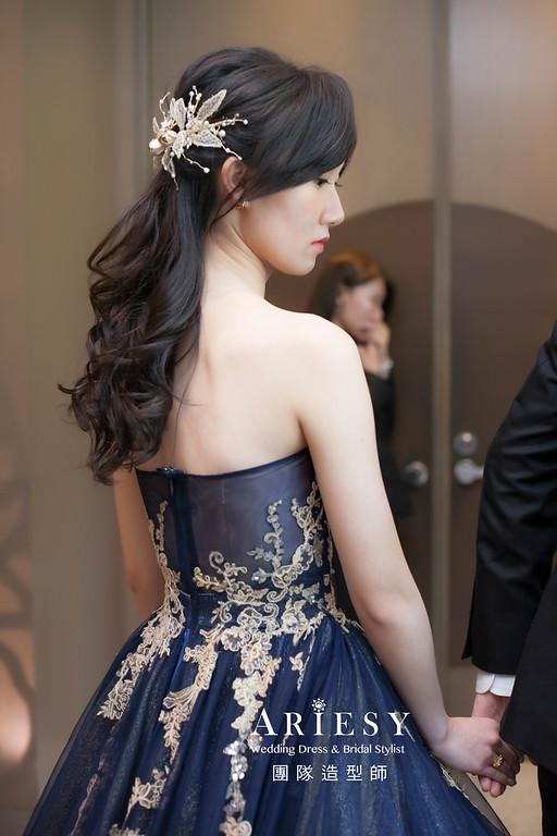 新祕,放髮造型,台北新祕,新娘秘書,新娘髮型,蓬鬆編髮,自然清透妝感,黑髮新娘