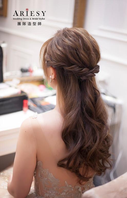 新娘髮型,編髮造型,台北新祕,新娘秘書,新娘造型,送客造型,名媛造型,自然清透妝感