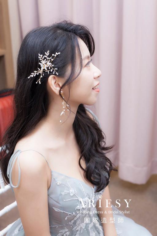 台北新祕,新娘秘書,新娘造型,蓬鬆編髮,新娘造型,自然清透妝感,新娘髮型,名媛風造型,推薦新秘