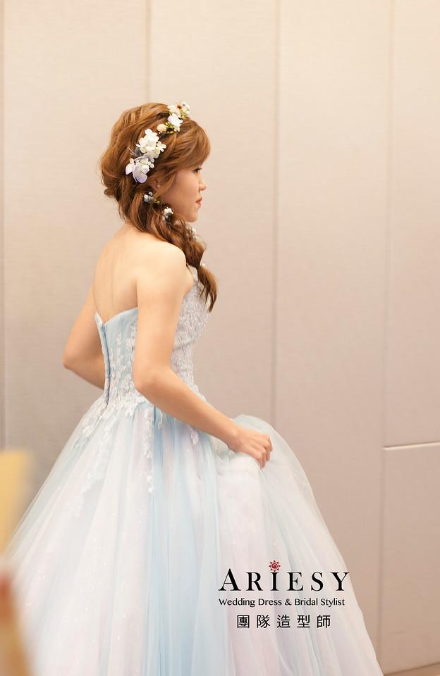 送客髮型,新娘髮型,鮮花花藝飾品,新娘祕書,編髮新娘造型