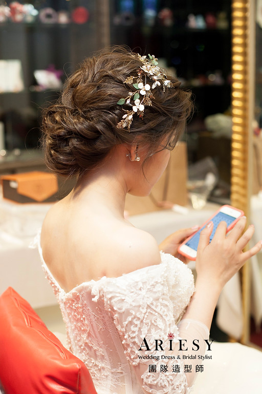 復古新娘造型,新娘髮型,白紗造型,時尚造型,新娘秘書
