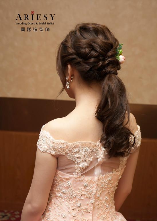 送客造型,宴客新娘髮型,Bride,花藝飾品,新娘造型