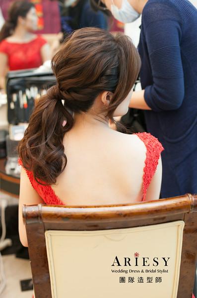 新娘造型,送客造型,低馬尾造型,編髮造型,台北新祕