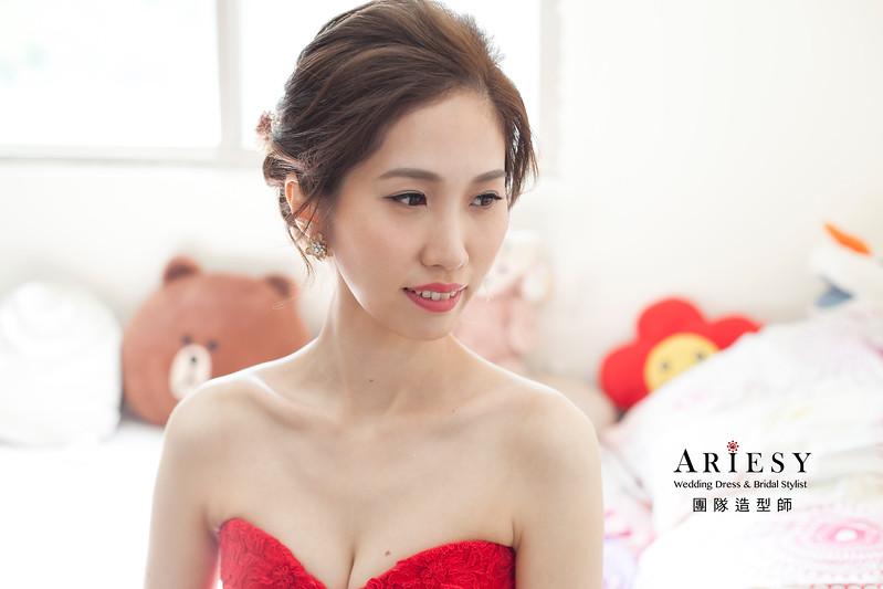 清透妝感,新娘造型,白紗造型,歐美清新風格,蓬鬆編髮髮型
