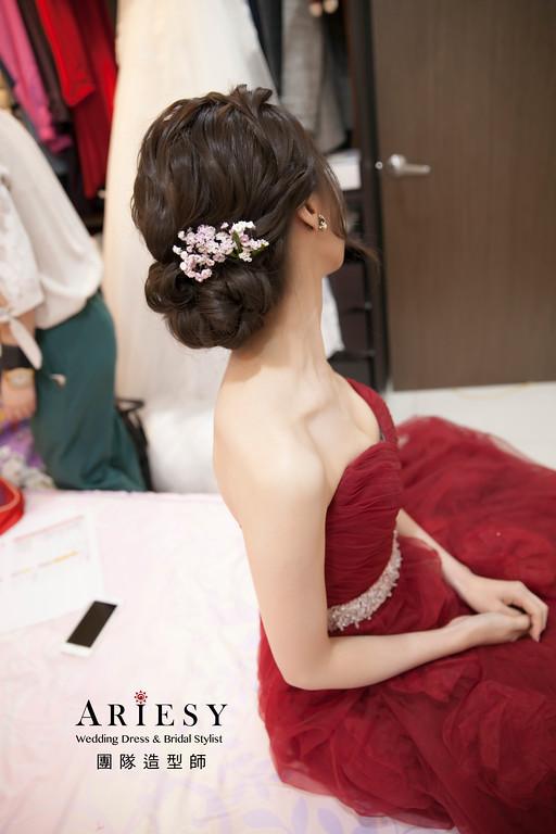 新娘髮型,文定造型,新娘造型,新娘包頭造型,新娘秘書
