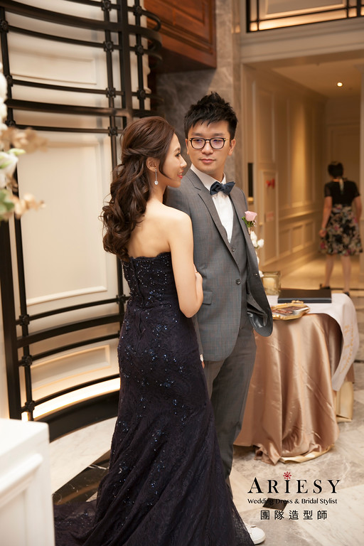 新娘髮型,送客造型,新娘造型,魚尾禮服造型,晚禮服造型