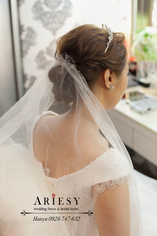 鮮花飾品,台北新祕推薦,新娘祕書,膨鬆編髮,新娘造型,Bride