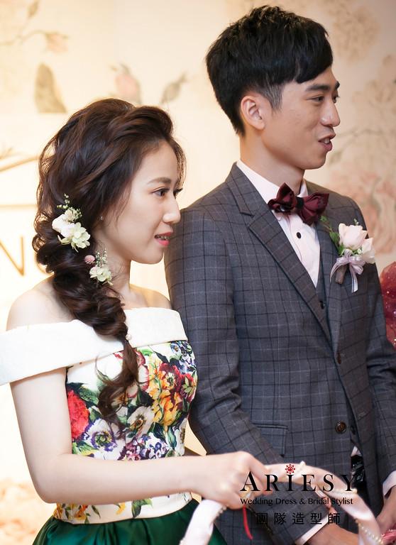 送客髮型,花藝飾品,編髮新娘造型,台北新祕,新娘髮型