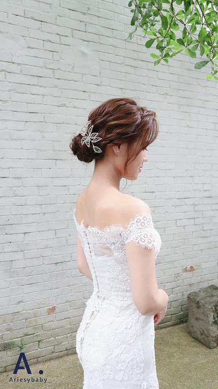 台北新秘,新祕,新娘秘書,新娘髮型,Ariesybaby造型團隊,清透妝感,新娘造型