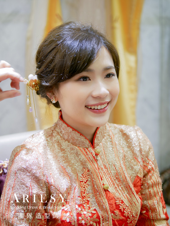 送客髮型,編髮造型,秀禾服造型,台北新秘,新秘編髮