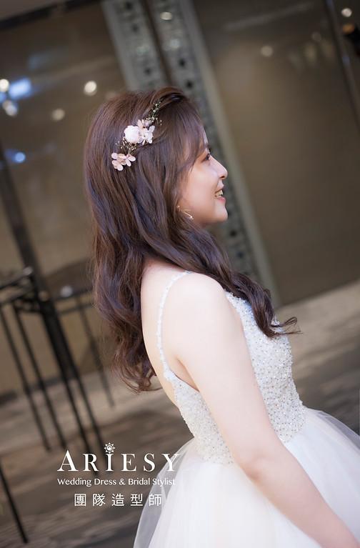 台北新祕,新娘秘書,新娘造型,編髮新祕,送客造型,自然清透妝感,新娘髮型,編髮造型,晚禮服造型