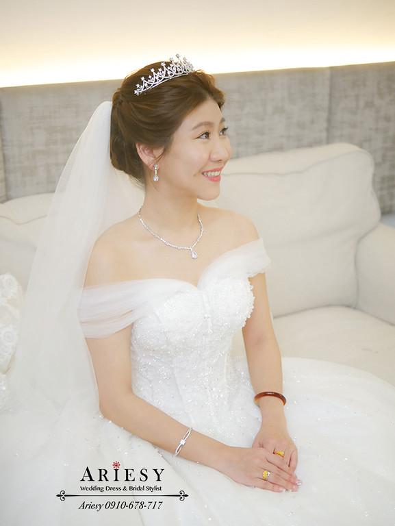 頭紗髮型,白紗造型,皇冠造型,韓風妝感,宋慧喬新娘造型,四大新秘,愛瑞思